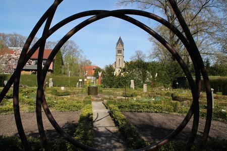 vicar: A little chapel garden Stock Photo