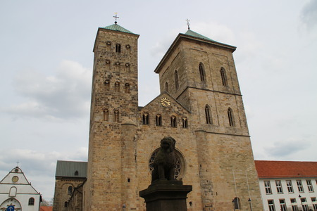 abuses: The cathedral in Osnabrueck Stock Photo