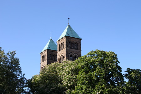 lower value: Church Towers Stock Photo