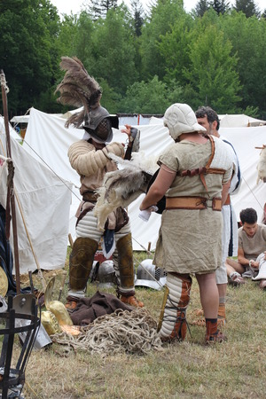 legionaries: A gladiator Stock Photo