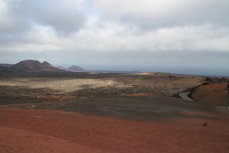 lanzarote: Volcanoes in Lanzarote Stock Photo