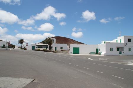 lanzarote: A Village Lanzarote Stock Photo