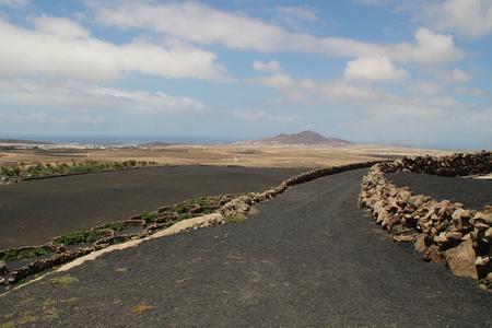 lanzarote: The landscape in Lanzarote Stock Photo