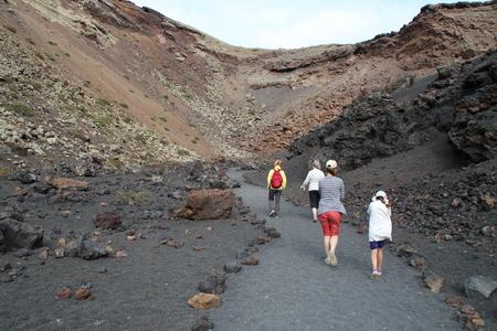 timanfaya: A lava tour Stock Photo