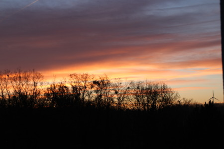 wadding: A sunset in winter