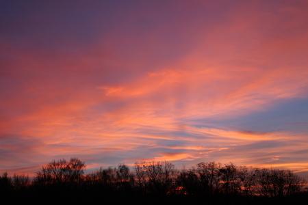 Ein Sonnenaufgang im Winter Standard-Bild - 50906001