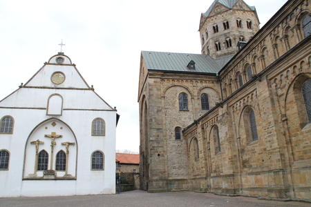 A cathedral with a church
