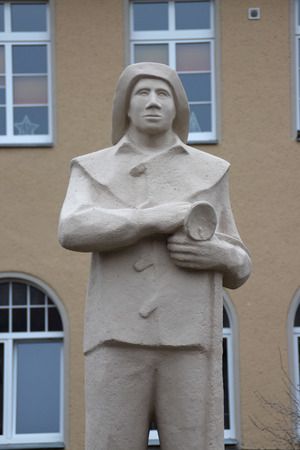 Ein Bergmann Denkmal Standard-Bild - 92986808