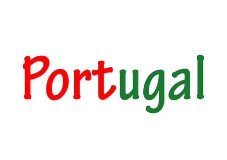 Das Wort Portugal Standard-Bild - 93807046