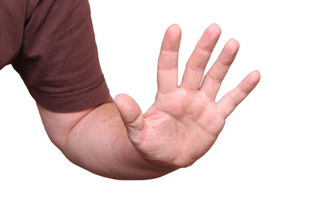 A defensive hand Stock Photo