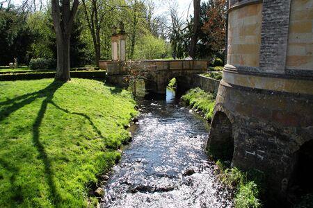 A little river behind a church