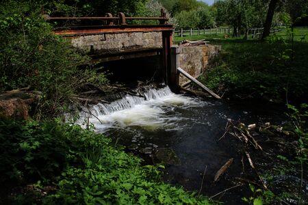 A dam at a river