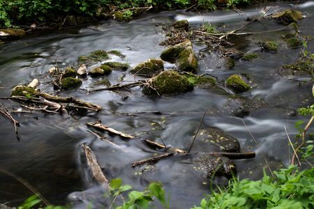 Stones in a river Stock Photo