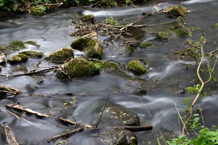 A river with stones