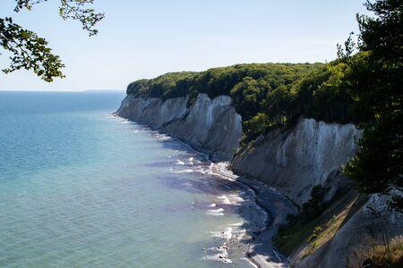 Chalk cliff on Ruegen Stock Photo