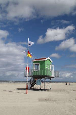 A observation deck on Langeoog Stock Photo