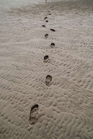 Footprints at the beach on Langeoog