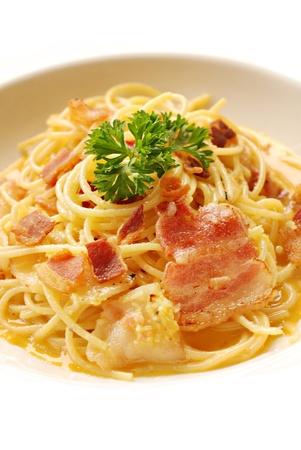 Spaghetti Carbonara Reklamní fotografie
