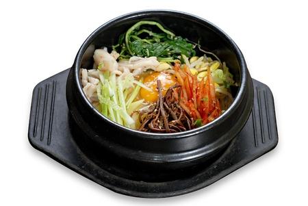 비빔밥 한국어 쌀 스톡 콘텐츠