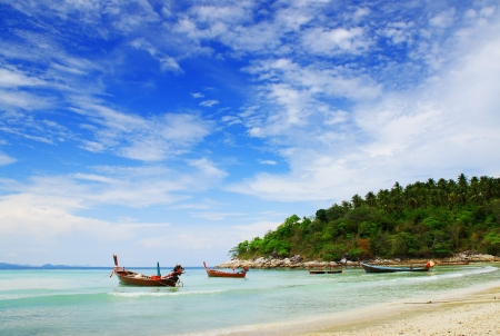 Boat on Andaman Sea Stock Photo