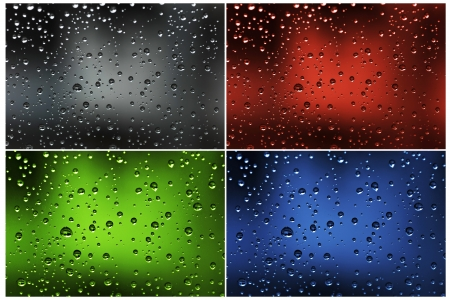 water drops RGB Red Green Blue
