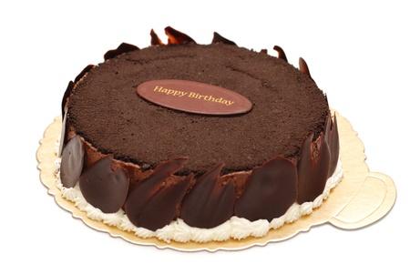 幸せな誕生日のチョコレート ケーキ