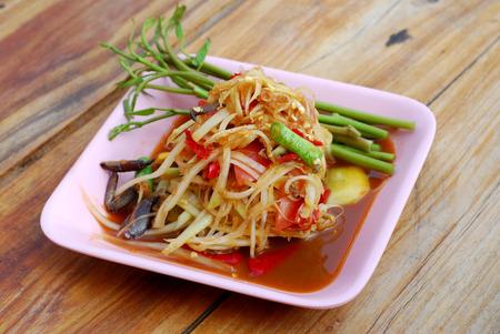 Som tum Thai papaya salad  photo
