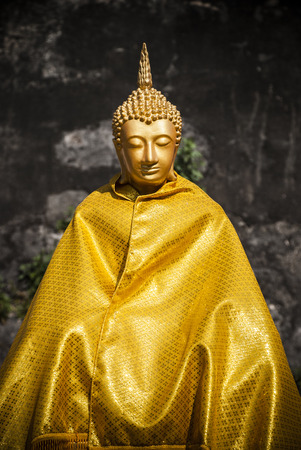 Gold budda thailand Stock Photo