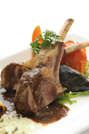 Lamb Chops grilled Stock Photo