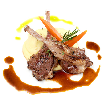 Lamb Chops grilled Stok Fotoğraf