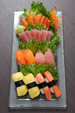 Tuna sushi and Salmon sushi