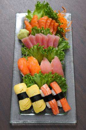 Tuna sushi and Salmon sushi