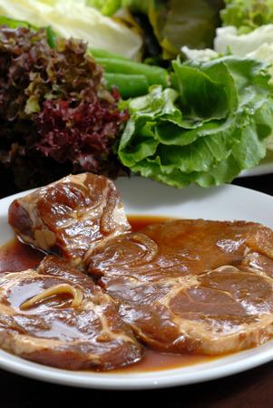 Korean marinated pork sauce photo