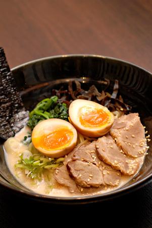 Ramen the Japanese noodle miso soup
