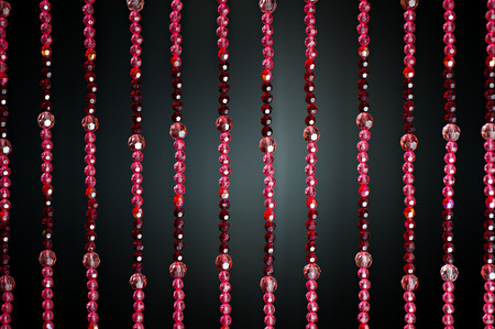Red Crystal bead Curtain Pattern photo