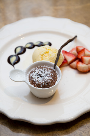 chocolate fondue sweet dessert photo