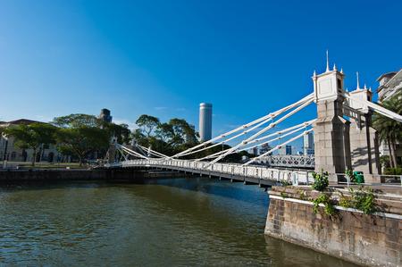 Cavenagh Bridge, Singapore River photo