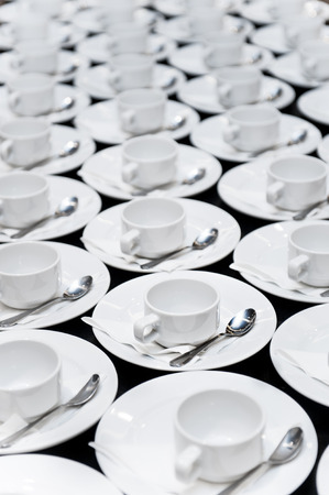 Cups of coffee, Coffee Break catering Stock Photo