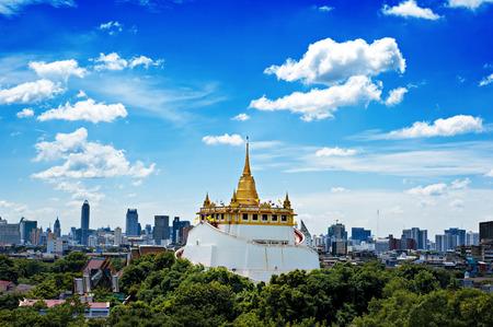 ワット サケットにゴールデン マウント旅行バンコクのランドマーク タイ