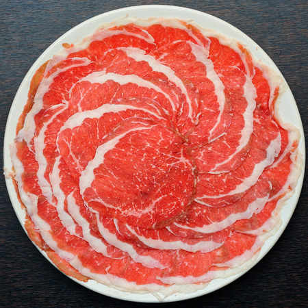 すき焼き新鮮な牛肉豚肉スライス