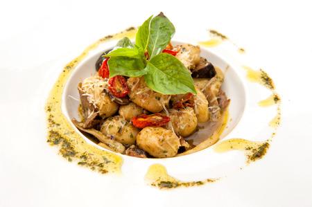İtalyan mutfağı: Gnocchi İtalyan mutfağı Stok Fotoğraf
