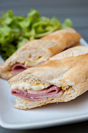 Ham & Brie Sandwich served with salad