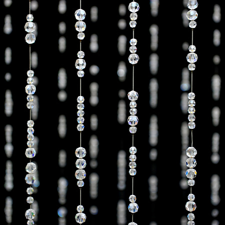 Crystal bead Curtain Pattern Stock Photo