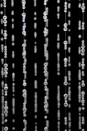 tallboy: Crystal bead Curtain Pattern Stock Photo