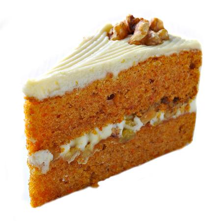 cheese cake: Carrot Cake isolated on white background Stock Photo