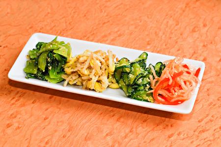 side dish: kimchi Korean food side dish Stock Photo