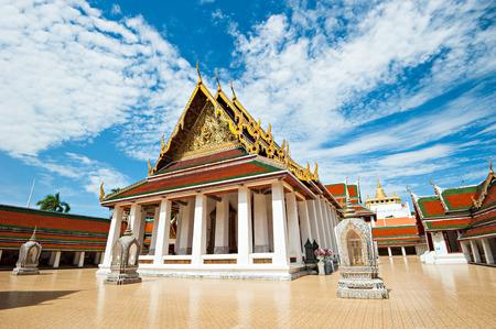 The Golden Mount at Wat Saket, Travel Landmark of Bangkok Thailand  photo