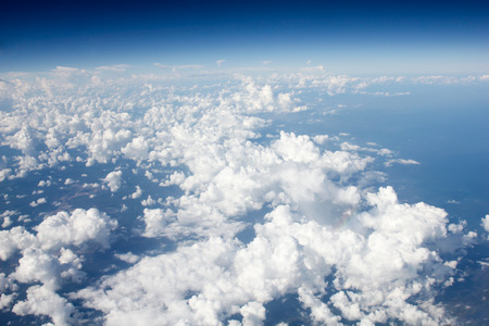 cloudiness: cloud over the ocean with Blue sky