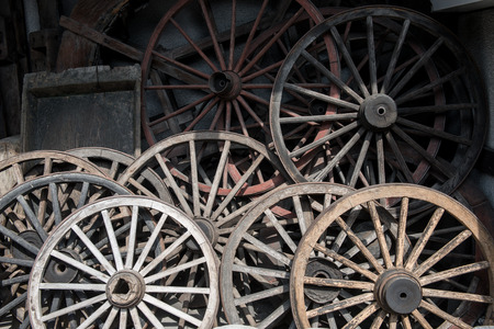 travel japan: The old wheels at walking street ing Takayama, sightseeing travel japan