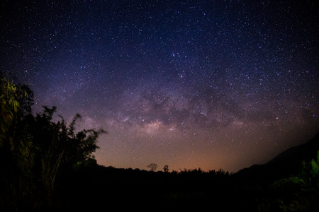 Milky way in Thailand Stock Photo